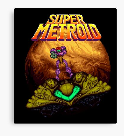 Super Metroid - Samus leaving Zebes Canvas Print