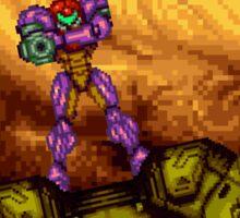 Super Metroid - Samus leaving Zebes Sticker