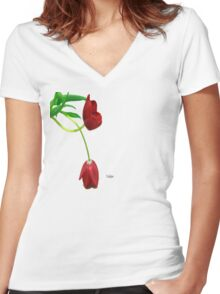Tulipa Women's Fitted V-Neck T-Shirt