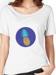 Pineapple Party in Blue Women's Relaxed Fit T-Shirt