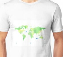 Green planet World map Unisex T-Shirt