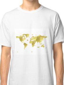 Golden ONE Wolrd map Classic T-Shirt