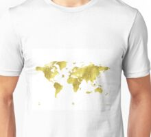 Golden ONE Wolrd map Unisex T-Shirt