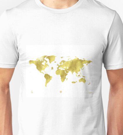 Golden ONE Wolrd map Unisex T-Shirt