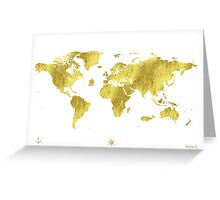 Golden ONE Wolrd map Greeting Card
