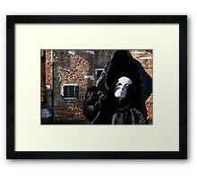 Carnival of Venice: Ghost - tell me everything Framed Print