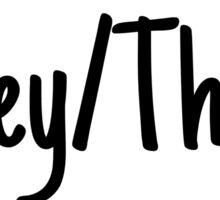 They/Them Pronoun Tag Sticker