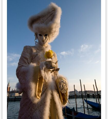 Carnival of Venice: Yellow rose charmer Sticker