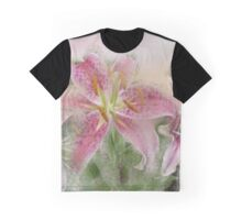 Pink Tiger Lilies Graphic T-Shirt