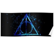Deathly Hallows Blue  Poster