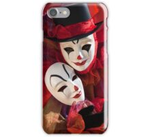 Portrait of Clown with Mask iPhone Case/Skin