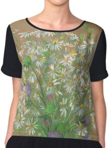 Meadow flowers, floral painting Chiffon Top
