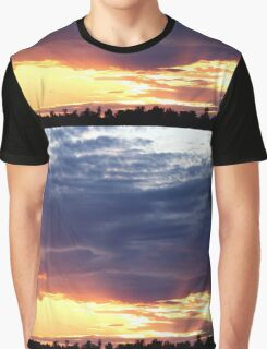 June Sunset Over Cedarville Bay Graphic T-Shirt