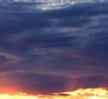 June Sunset Over Cedarville Bay Sticker