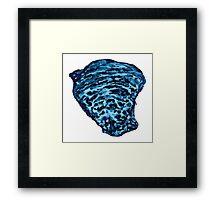 Blue Oyster Shell 2 Framed Print