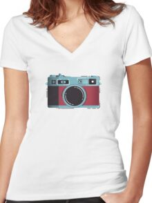 Little Yashica Women's Fitted V-Neck T-Shirt