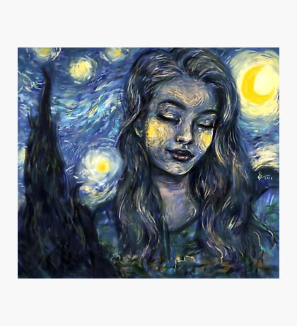 Starry girl Photographic Print