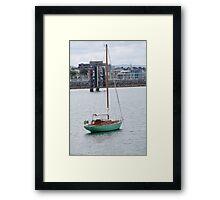 Green yacht Framed Print