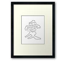 Kanji love Framed Print
