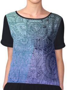 """""""tapestry of inner workings"""" Chiffon Top"""
