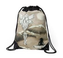 Lost Butterfly City Drawstring Bag