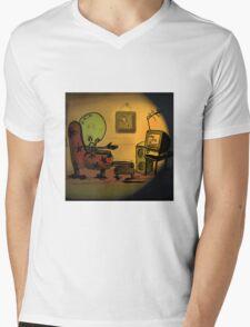 Lightbulb Man Mens V-Neck T-Shirt