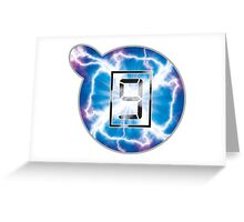 Mr Game and Watch Electric Judgement Greeting Card