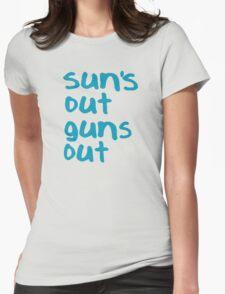 Sun's Out Guns Out - 22 Jump Street Womens Fitted T-Shirt