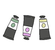 art paint tubes  Photographic Print