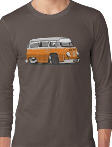 VW T2 Microbus cartoon orange Long Sleeve T-Shirt
