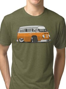 VW T2 Microbus cartoon orange Tri-blend T-Shirt