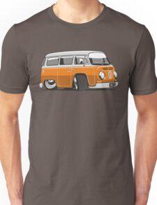 VW T2 Microbus cartoon orange Unisex T-Shirt