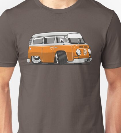 VW T2 Microbus cartoon orange Unisex T-Shirt