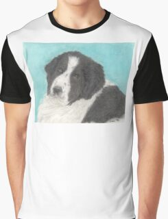 Landseer Newfoundland Dog Animal Art Cathy Peek Graphic T-Shirt