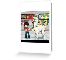 Alpaca your shopping! Greeting Card