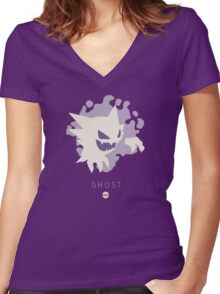 Pokemon Type - Ghost Women's Fitted V-Neck T-Shirt