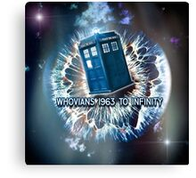 Whovians to Infinity Canvas Print