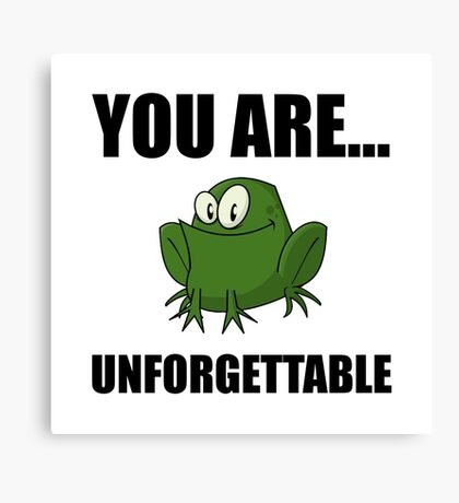 Unforgettable Frog Canvas Print