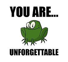 Unforgettable Frog Photographic Print