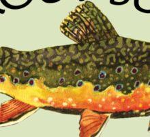 Trout Fishing Sticker