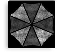 °GEEK° Umbrella Corporation B&W Logo Canvas Print