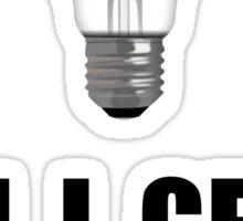 Watt Watt Light Bulb Sticker