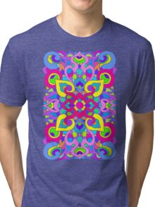 Artistic Stained Glass Pattern Tri-blend T-Shirt