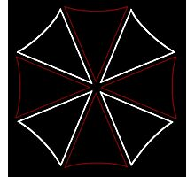 °GEEK° Umbrella Corporation Neon Logo Photographic Print