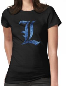 °MANGA° Death Note L Space Logo Womens Fitted T-Shirt