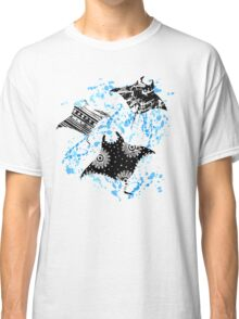 Patterned Ocean Manta Rays Classic T-Shirt