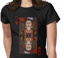 Frida Kahlo,  Queen of Hearts II Womens Fitted T-Shirt