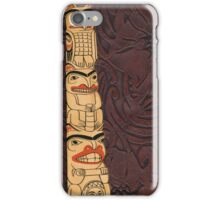 Native American Indian Totem Pole Leather iPhone Case/Skin