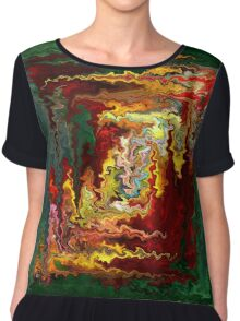 Colored rectangle by rafi talby Chiffon Top