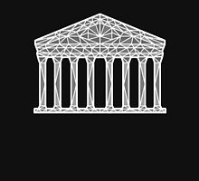 Geometric Pantheon in grey with white outline Unisex T-Shirt